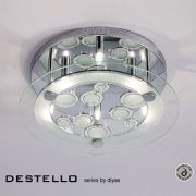 Destello 4 Light Flush Fitting in Polished Chrome and Crystal - DIYAS IL30983